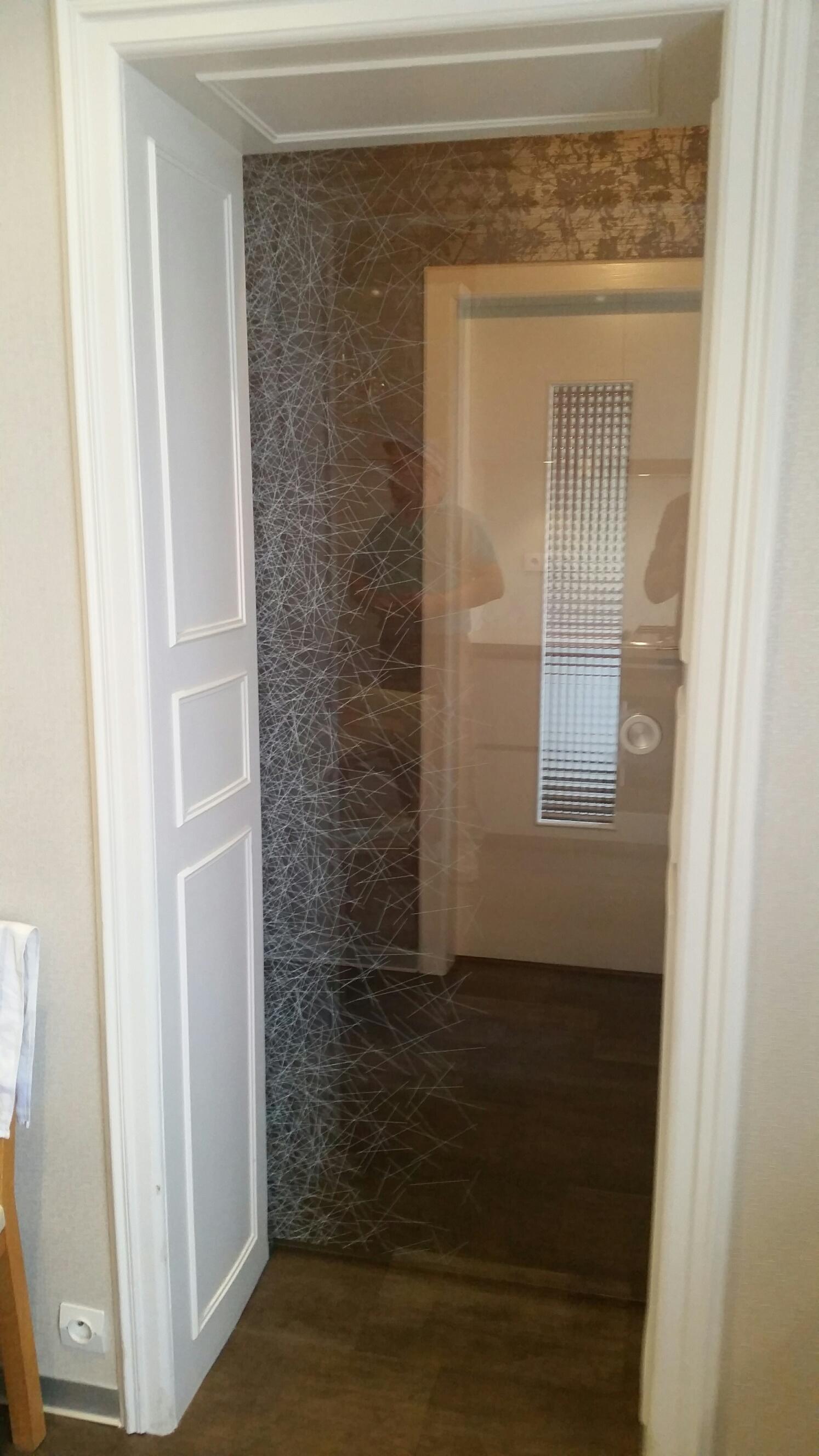 R alisation portes js verre decor for Plaque decorative porte